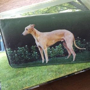 Genuine Leather Greyhound Checkbook Cover